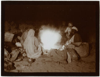 Fotografie Lager im w. [wadi] rahabi Lichtblitzbild [Wadi rahabi]