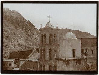 Fotografie Sinaiklosterkirche [Gebel musa, Katharinenkloster] v. W