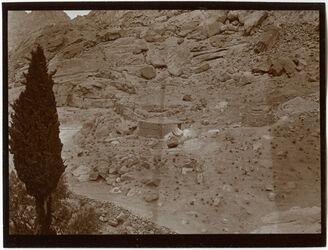 Fotografie Felsengarten b. Sinai. Kloster [Gebel musa, Katharinenkloster]