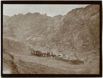 Fotografie Sinaikloster [Gebel musa, Katharinenkloster] v. S.