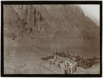 Fotografie Sinaikloster [Gebel musa, Katharinenkloster] v. NO