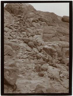 Fotografie Treppe des Aufstiegs zu g. [gebel, dschebel, djebel] musa oberhalb der Kapelle d. Beichte