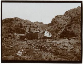 Fotografie Eliaskapelle [Gebel musa] vom Abstieg (auf Sinai)