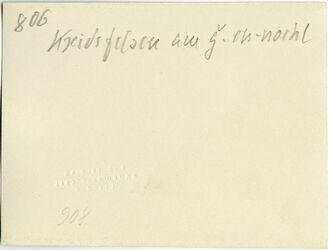 GDIs01014; Fotografie; Kreidefelsen am g. [gebel, djebel, dschebel] en-nochel, aus Nachlass von rund 880 Fotografien von Valentin Schwöbel
