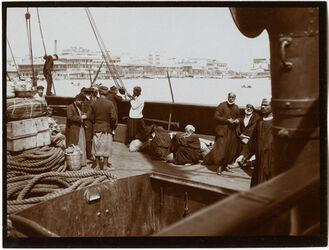 Fotografie Im Hafen v. Alexandrien [Alexandria]