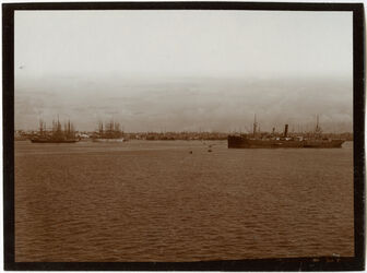 Fotografie Hafen v. Alexandrien [Alexandria] v. d. Rhede