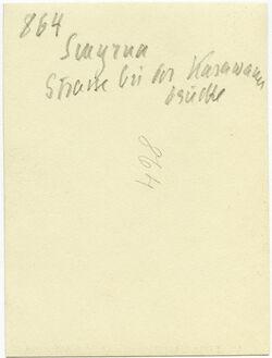 GDIs01064; Fotografie; Smyrna Strasse bei der Karawane brücke, aus Nachlass von rund 880 Fotografien von Valentin Schwöbel
