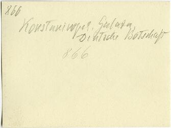 GDIs01066; Fotografie; Konstantinopel [Istanbul], Gulata, Deutsche Botschaft, aus Nachlass von rund 880 Fotografien von Valentin Schwöbel