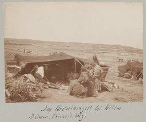 Fotoalbum Im Beduinenlager bei kitim. Dalman, Eberhard, Volz.
