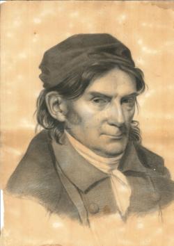 Handzeichnung Porträt Karl Schildener