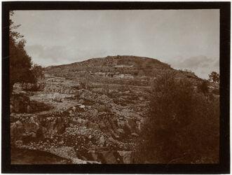 Fotografie ch. [chirbet] el-jehud v. SO [Chirbet el-jehud]