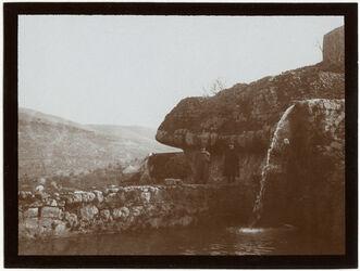 Fotografie Teich v. bettir Blick n. d. Bahnhof [Wadi Bettiir]