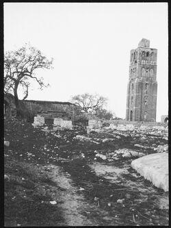 GDIs00382; Fotografie; Turm des bubars in ramle [Ramla, Weiße Moschee], aus Nachlass von rund 880 Fotografien von Valentin Schwöbel