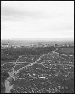 GDIs00384; Fotografie; er-ramle v. Turm des burbars [Ramla, Weiße Moschee], aus Nachlass von rund 880 Fotografien von Valentin Schwöbel