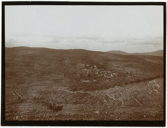 GDIs00401; Fotografie; gifna [dschifna, djifna] v. S. mit Tal, aus Nachlass von rund 880 Fotografien von Valentin Schwöbel