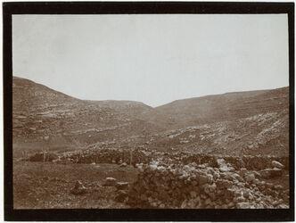 Fotografie Unterhalb tell mirjam Blick n. SO w. [wadi] el-medine