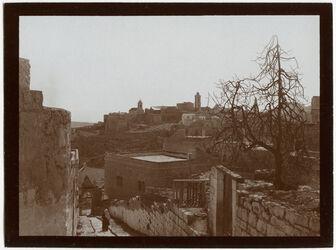 GDIs00449; Fotografie; Bethlehem v. NW Geburtskirche, aus Nachlass von rund 880 Fotografien von Valentin Schwöbel