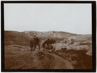 Fotografie Bethlehem v. SO Weg nach Herodion