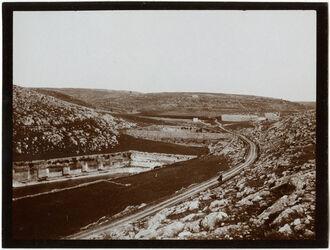 Fotografie el-burak (Sal.teiche [Salomonsteiche]) u. Kastell v. O.