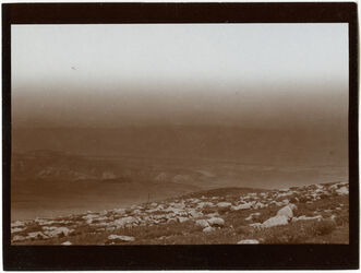 Fotografie Blick v. nördl. v. Megdel beni fadil (Jordantal n. Aglun [Adschlun, Adjlun]) cf 284 [GDIs00496])