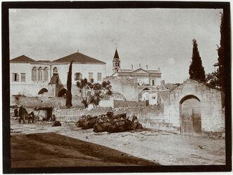 Fotografie Nazareth Vor d. arab. Hotel Verk.Kirche [Verkündigungskirche]