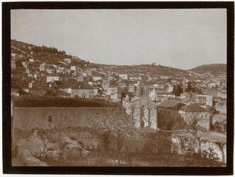 Fotografie Nazareth mit engl. Missionskirche n. SW