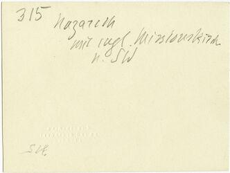 GDIs00527; Fotografie; Nazareth mit engl. Missionskirche n. SW, aus Nachlass von rund 880 Fotografien von Valentin Schwöbel