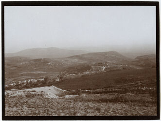 Fotografie Von der Höhe über Nazareth Blick n. S. (Absturzberg, gebel [dschebel, djebel] dahi)