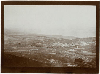 Fotografie Blick v. d. Höhe nördl. v. Nazareth nach NO (er-rem [Rama?], mishad)