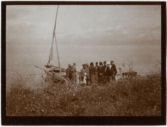 Fotografie See v. Tiberias Am Boot, Ostufer [See Genezareth, Samach]