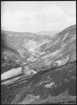 GDIs00543; Fotografie; w. 'oba v. SO. v. Aufsstieg nach alma [Wadi oba/alma], aus Nachlass von rund 880 Fotografien von Valentin Schwöbel