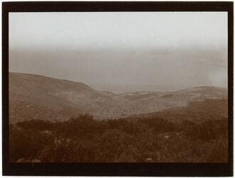 Fotografie Blick oberhalb gfat [dschfat, djfat] nach NW Tal v. Kabul Küste bei