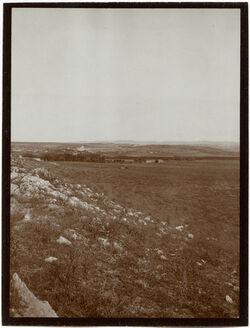 Fotografie v. d. alten Wasserleitung bei Tyrus Blick nach O (tell masuk)