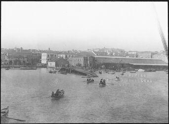 GDIs00598; Fotografie; Hafen, berut vom Schiff, aus Nachlass von rund 880 Fotografien von Valentin Schwöbel
