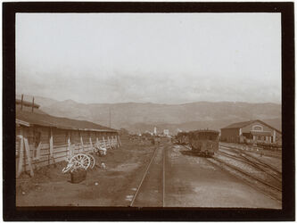 Fotografie Bahnhof berut Blick n. d. Bergen [Beirut]