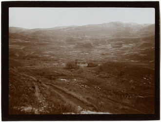 Fotografie el-hamme v. N heisser Teich, Berge v. Gadara