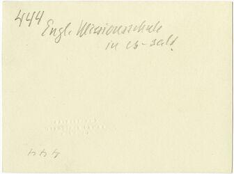 GDIs00642; Fotografie; Engl. Missionsschule in es-salt, aus Nachlass von rund 880 Fotografien von Valentin Schwöbel
