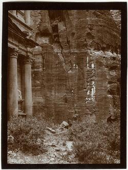 Fotografie Schlucht von el-chazne v. S. [Petra]