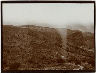 Fotografie Blick v. d. Höhe südl. w. fara [wadi fara] n. NO Gegend von el-fauwar