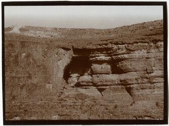 Fotografie Felswand bei Georgskloster im w. Kelt [wadi kelt]