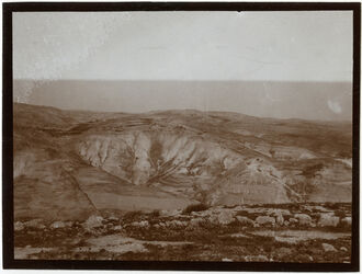 Fotografie Gegenüber derdosi (Ölberg) am w. ennar [wadi en-nar] Blick n. NW