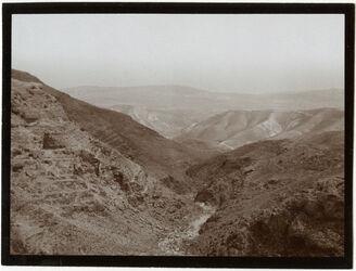 Fotografie Blick vom Kamm des muntar [el muntar] in die wa