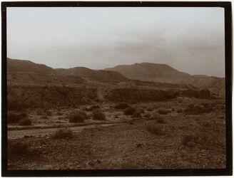 Fotografie Austritt d. w. debr in die Jordanebene v. O [wadi debr]