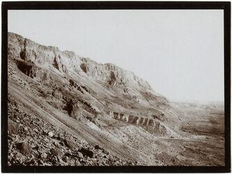 Fotografie Blick v. d. Höhe des Weges am ras fescha nach d. Nordseite
