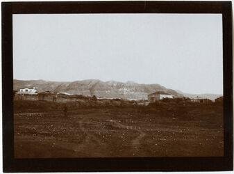 Fotografie g. [gebel/dschebel/djebel] Kuruntul [Berg der Versuchung] über Jericho