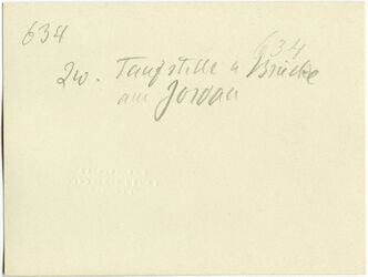 GDIs00839; Fotografie; zw. Taufstelle [hadschla-Furt] u Brücke am Jordan [Allenby-(Jordan-)Brücke], aus Nachlass von rund 880 Fotografien von Valentin Schwöbel