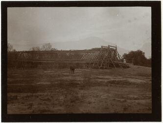 Fotografie Jordanbrücke [osmanischer Vorgängerbau der britischen Allenby-Brücke] v. SW