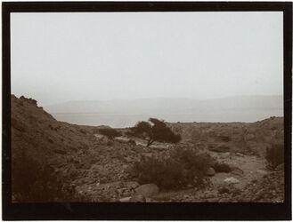 Fotografie bei w. [wadi] el-umbarrak [?] Blick n. O. (Halbinsel)