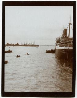 "Fotografie ""Princess Alice"" vor d. Kanal [Suez-Kanal]"