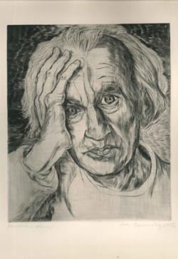 Druckgrafik Porträt Hans